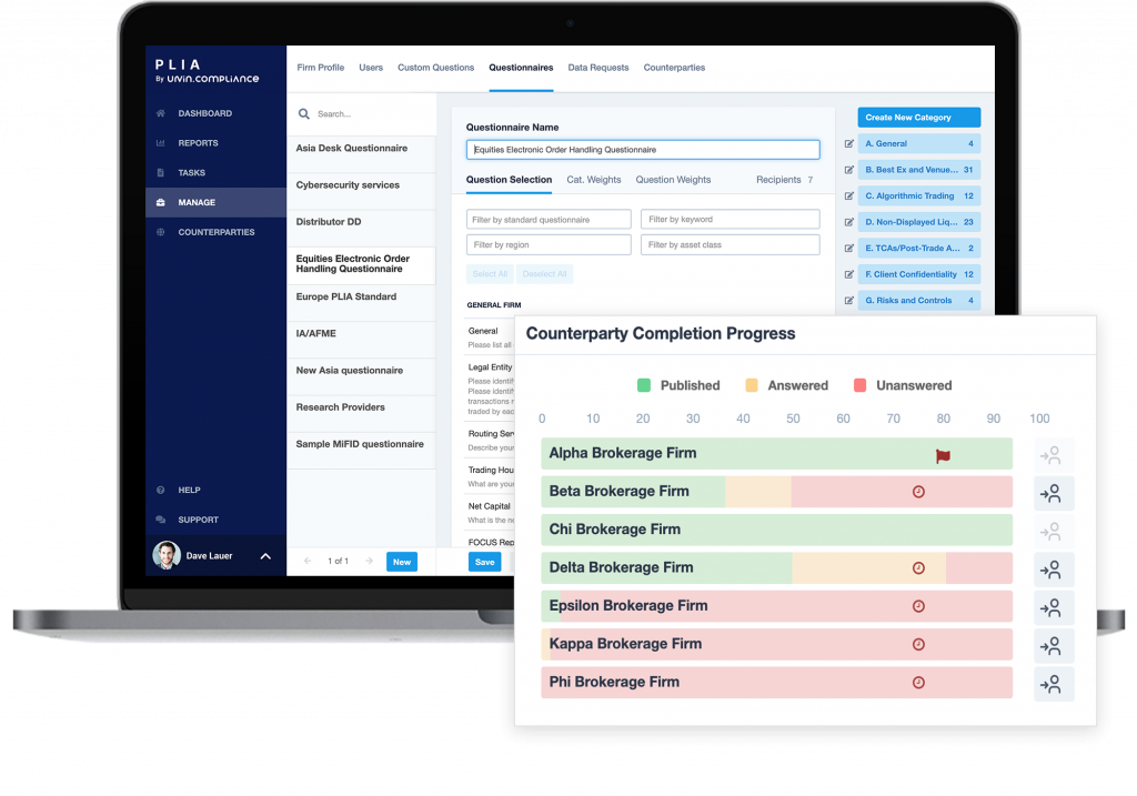 Urvin.Compliance Screens