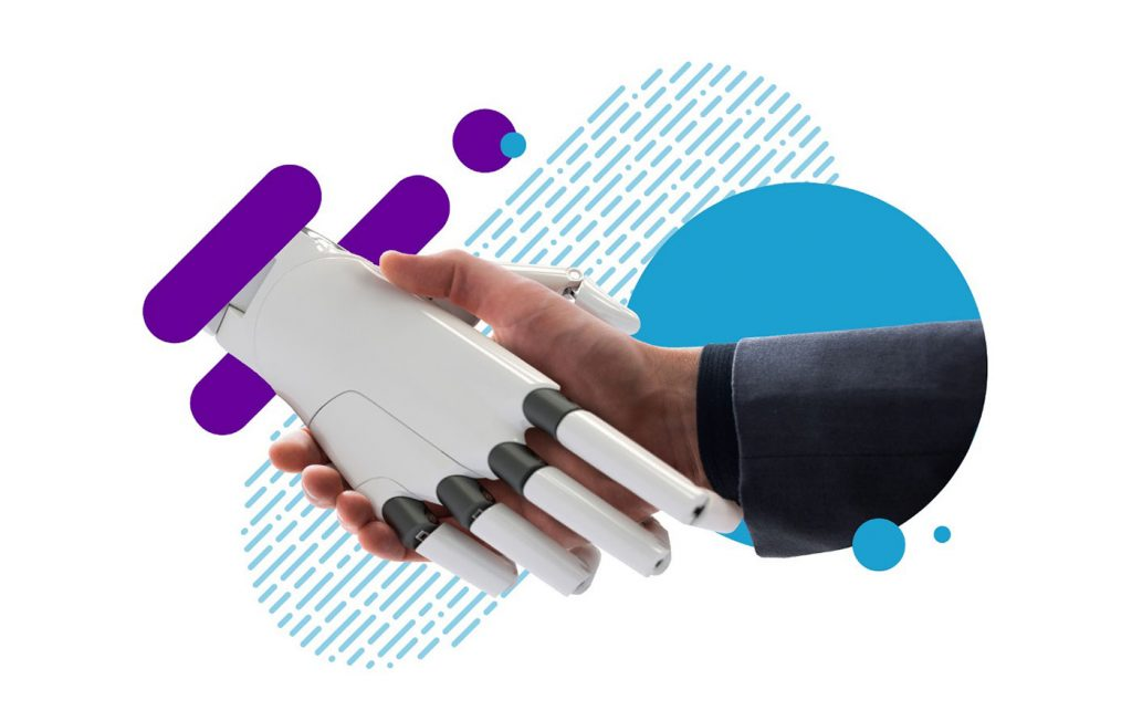 Human Shaking Hands with Robot